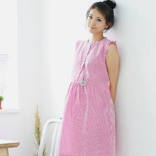 Maternity Maternity Dresses Korean fashion spring and summer sweet women skirt plaid dress Cinderella grant