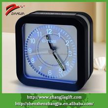 2015 Decorate Desktop Luminous Square Analog Alarm Clock