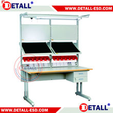 Ergonomic adjustable work table for SMT room (Detall)
