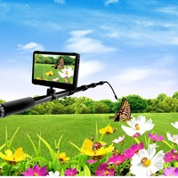 3.5 mega 1080P HD mini camera with 2 meters pole (1080P, 7 inch screen,5000mah battery,64GB SD)