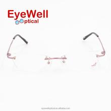 Top quality silhouette rimless beta titanium eyeglasses eyewear optical frames (T5110)