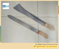 New Design High Quality Nigeria Market carbon steel machete M550 19'' wooden/plastic handle