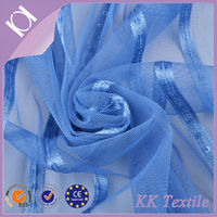 """Beautiful shiny 1/2"""" strip embroidery design mesh lace korean textiles fabricfor girl's dress skirt"""
