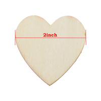 """2"""" Heart Shapes Unfinished Wood laser cut for Creating Painted /Decorated/ Craft Projects"""