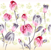 100% polyester tulip style printed & dyed and burshed fabric width 255cm 85gsm