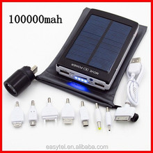 Super high capacity 16000mah portable mobile solar charger/newest solar power bank with led indicators for digital devices