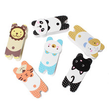 Wood Photo Holder Clothespin Clips At Random Animal Pattern 8cmx3.9cm