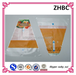 Printed triangle plastic sandwich packaging bag