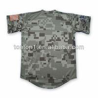 Cheap 100% Polyester Fully Sublimated Custom Camo Baseball Jerseys