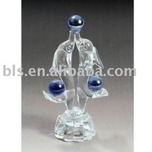 crystal fishes figurine