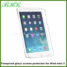 9H full cover remove air bubbles Tempered glass screen protector for iPad mini 3,glass screen protector 9h for iPad mini 3