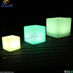 Outdoor LED Light Cube/High Quality RGB cube light/16 color LED cube seat