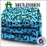 Mulinsen Textile Knitting 94% Polyester 6% Spandex Jacquard Flock Design Print Fabric