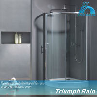 AQSC1803CL easy install top sell aluminum walk in shower enclosure