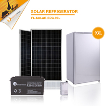 93L Portable small type DC refrigerator mini single door solar fridge for home use car use