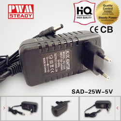 Steady ce approved 25w 5v 5a ac dc power adapter 5v led power supply