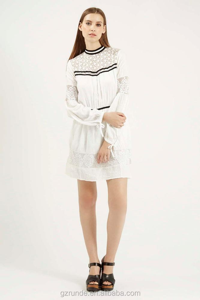 Fashion design velvet trim lace dress white lace midi for Velvet and lace wedding dresses