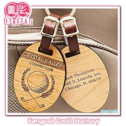 Custom Wood engraved clothes luggage hang tag (wooden craft in laser-cutting & engraving)
