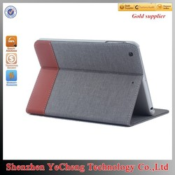 hot new products for 2015 for ipad 2 leather book case with canvas