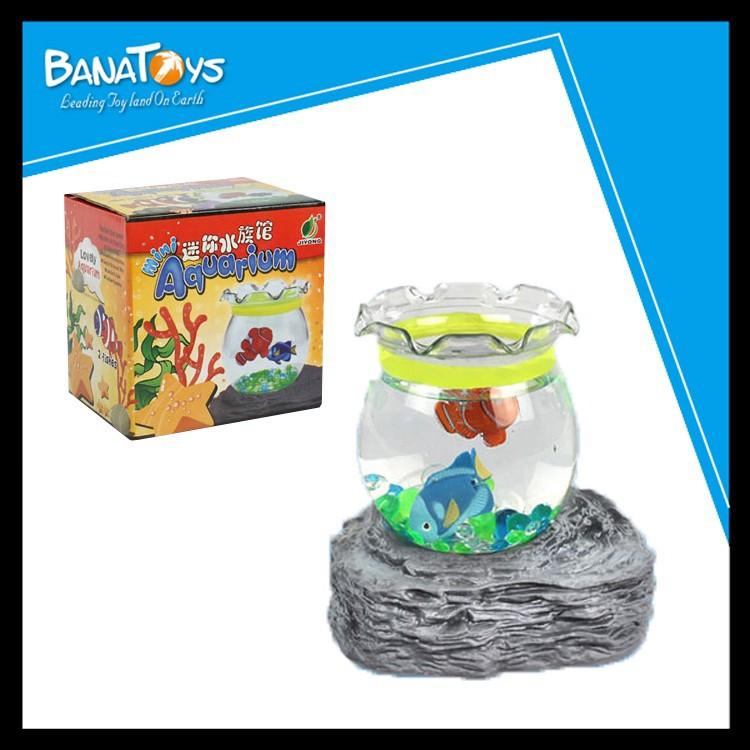 2015 promotional kids toy mini novelty fish aquarium buy for Toy fish tank