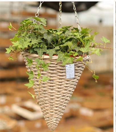 naturel osier panier main tiss plantes panier suspendu. Black Bedroom Furniture Sets. Home Design Ideas