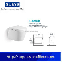One piece toilet bowl/wall mounted WC toilet K-B25037