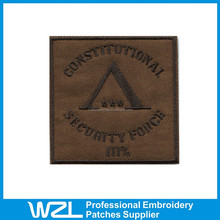 2015 cheapest hand embroidered bullion military patches for clothing