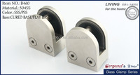small size round glass clamp/double side glass door hinge