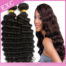 Large Stock Available! Wholesale Deep Curly Wavy Hair Top Quality 100% Pure Indian Hair Weave Deep Wave
