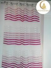 fashion design dubai promotional Stripe fabric curtain design living room curtains