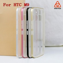 hot new products for 2015 China Suppliers soft TPU+Metal bumper mobile phone case cover for HTC New one Plus M9
