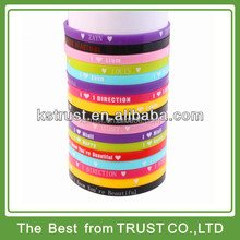 custom cheap thin silicone wristband, 1/4 inch silicone bracelet, narrow silicone bracelet