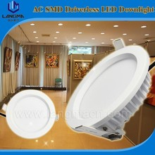 Langma led dimmable down ultra thin led downlight with CE ROHS aluminium 12w SMD led downlight