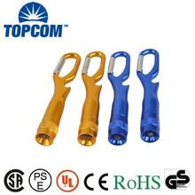 Wholesale led keychain flashlights/led light keyring/torch keychain with carabiner