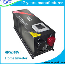 4kw/5kw/6kw home inverter solar power inverter pure sine wave with battery charger