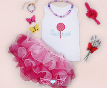 Cute cotton baby romper /tutu dress /custom design baby clothes/organic baby clothing with tutu skirts China factory