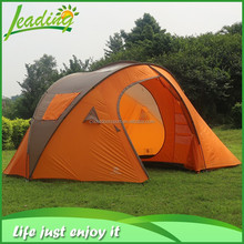 11mm fiberglass poles large family camping tent, polyester family tent for camping