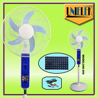 90 degree oscillating solar powered cooling fan in pedestal floor table wall mounted style