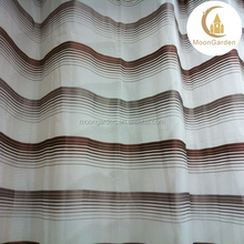 new good polyester/nylon sheer window curtain striped sheer curtain voile curtain