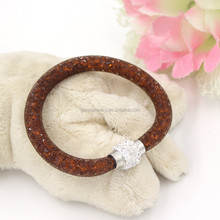 New Products Alibaba Express Brown Stardust Crystal Mesh Chain Bracelets