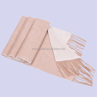 stocks price light camel colour pure cashmere scarf for lady