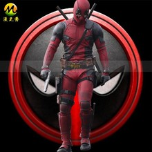 Custom Made 2016 New Movie Deadpool Costume Suit Adult Men's Halloween Carnival Cosplay Costume
