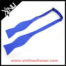 Mini Blue Dots Easy Tie Bow Tie, Silk Self Tied Bow Tie