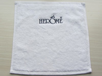 Velvet Pile Face Towel With Embroidery Logo