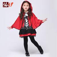 Kids girls little red riding hood costume JXSL-2046