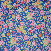 2015 Vintage blue rose Floral printed cotton fabric sewing patchwork fabric HYC0008