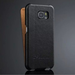 Flip Genuine leather case for S6,for S6 lychee leather case