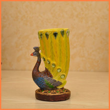 Peacock resin pen holder toothpick holder creative gifts agent fashion pastoral home crafts business gifts