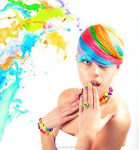 Tiza 6 colores de pelo, Pastel tiza, tiza del Color del pelo