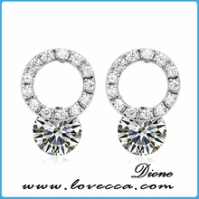 Platinum Plated Zircon Shining Earring, China Manufacturer Made Zircon Precious Earrings